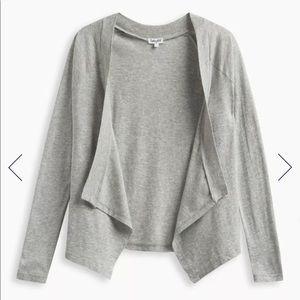 Splendid gray open cardigan medium